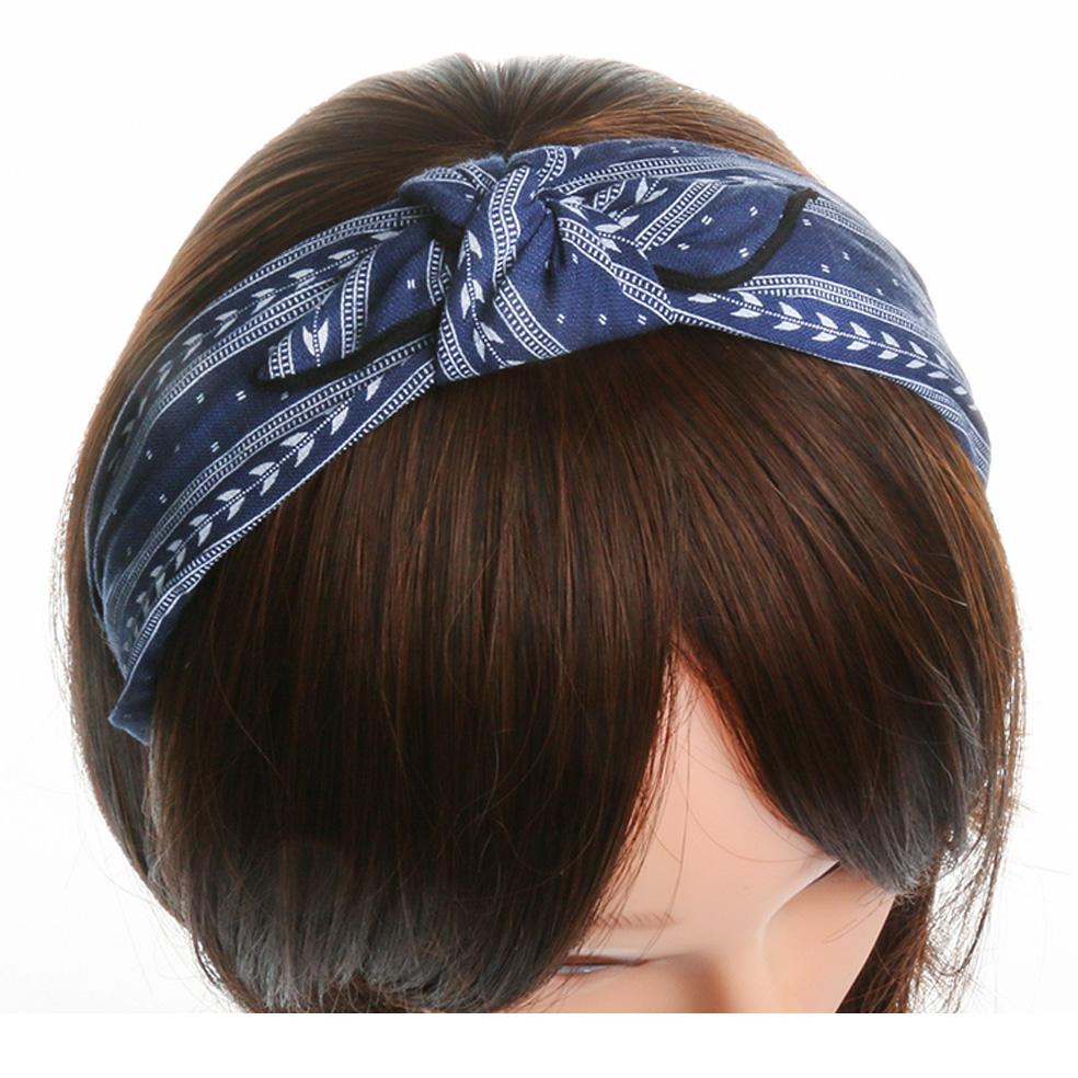 Damen Breiter Stoff Haarreif Schleife Vintage Wunderschön Stirnband Haarschmuck