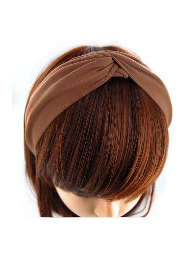 Stoff Haarreif mit Knote-Braun