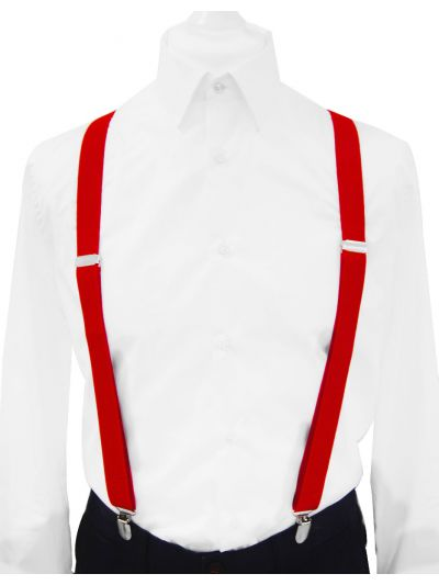 Hosenträger breit 2,5cm in Rot