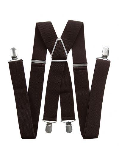Herren Hosenträger breit 3,5 cm in Dunkelbraun