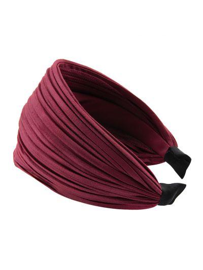 Leder Optik Breite Haarreif in Rot
