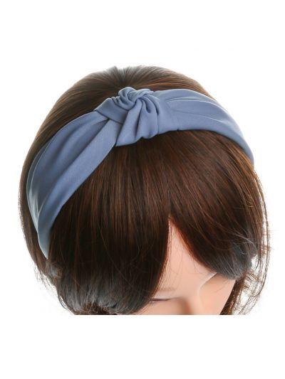 Stoff Vintage Haarreif mit Schleife in Blau