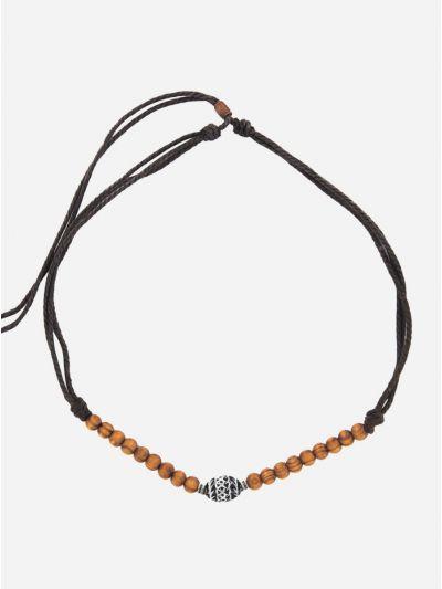 Surferkette Halskette-Necklace Holzperlen Herren Schmuck