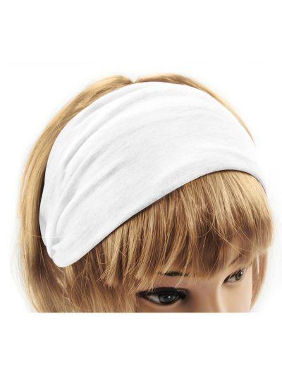 Yoga Haarband Hairband in Schneeweiß