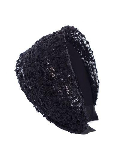 Wunderschön Stoff Breite Haarreif in Schwarz