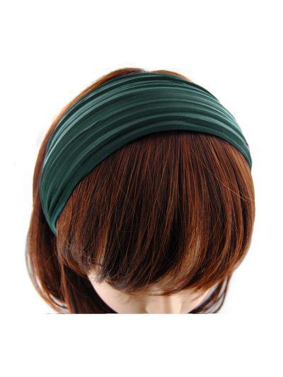 Stoff Breite Haarreif in Grün