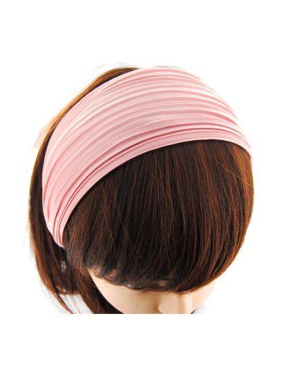 Stoff Breite Haarreif in Pink