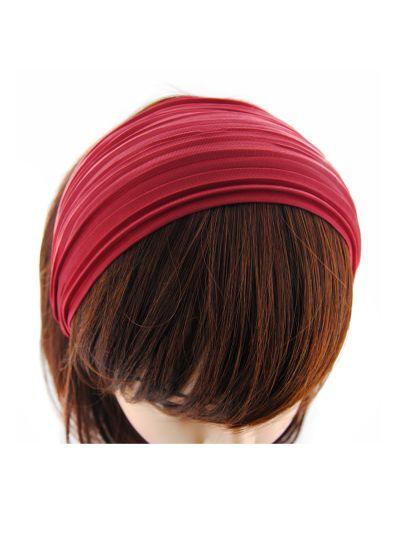 Stoff Breite Haarreif in Rot