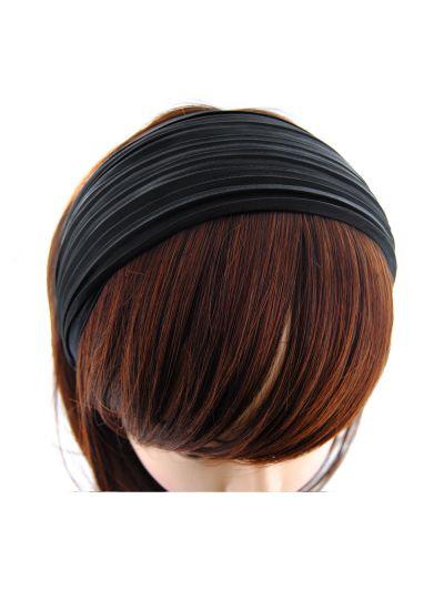 Stoff Breite Haarreif in Schwarz